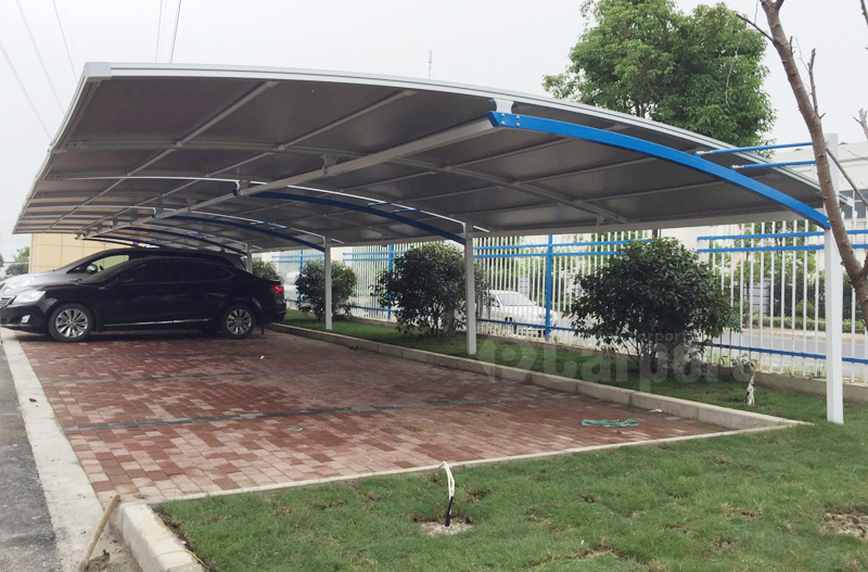 Customized Carport Project for China Traffic Construction Group.